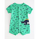 cheap Baby Boys' One-Piece-Baby Boys' Basic Solid Colored / Print Short sleeves Cotton Romper