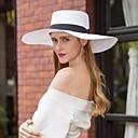 billige Halskjeder-Naturlig Fiber Hatter med Sløyfe 1pc Avslappet / Dagligdagstøy Hodeplagg
