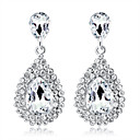 cheap Earrings-Crystal Chandelier Drop Earrings - Drop Fashion, Elegant Silver For Wedding Party / Evening