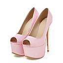זול נעלי ספורט לנשים-בגדי ריקוד נשים נעליים PU סתיו בלרינה בייסיק עקבים עקב סטילטו בוהן מציצה לבן / כחול / ורוד / מסיבה וערב / מסיבה וערב