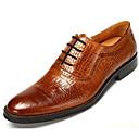 baratos Sapatilhas e Mocassins Masculinos-Homens Sapatos de vestir Pele Napa / Pele Outono Conforto Oxfords Preto / Marron