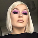 cheap Synthetic Capless Wigs-Synthetic Lace Front Wig Straight Blonde Bob Haircut 150% Density Synthetic Hair Heat Resistant / Fashion / African American Wig Blonde Wig Women's Short Lace Front Blonde / Purple / Yes