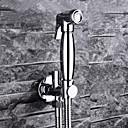 hesapli Klozet Muslukları-Çağdaş Duvara Monte Edilmiş Bateria ze spryskiwaczem Seramik Vana Tek Delik Tek Kolu Bir Delik Krom, Banyo Lavabo Bataryası