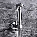 billige Badekraner-Moderne Vægmonteret Forskyll Keramisk Ventil Et Hull Enkelt Håndtak Et Hull Krom, Baderom Sink Tappekran