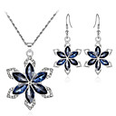 cheap Jewelry Sets-Crystal Jewelry Set - Flower, Snowflake Sweet, Fashion, Elegant Include Drop Earrings Pendant Necklace Bridal Jewelry Sets Silver For Wedding Party Gift