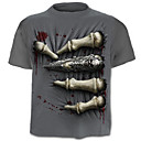 cheap Men's Athletic Shoes-Men's Active Plus Size Cotton T-shirt - Skull Print / Short Sleeve