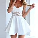 hesapli Banyo Rafları-Kadın's Tatil Boho / Sokak Şıklığı İnce Elbise - Solid / Çiçekli, Desen V Yaka / Askılı Mini / Diz üstü / Yaz