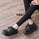 cheap Women's Athletic Shoes-Women's Shoes Leather Spring & Summer Comfort Athletic Shoes Wedge Heel Black / Yellow / Red