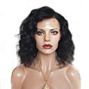 olcso Emberi hajból készült parókák-Remy haj Csipke eleje Paróka Brazil haj Göndör Paróka Rövid Bob / Oldalrész 130% Női Rövid Emberi hajból készült parókák