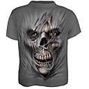 abordables Calcomanías de Agua para Manicura-Hombre Calavera Exagerado Estampado Camiseta Bloques Cráneos