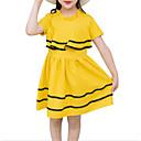 tanie Sukienki dla dziewczynek-Dzieci Dla dziewczynek Podstawowy Codzienny Solidne kolory Krótki rękaw Bawełna / Poliester Sukienka Czerwony