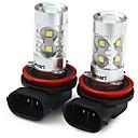 halpa Auton sumuvalot-SENCART 2pcs H11 / H8 Moottoripyörä / Auto Lamput 50W SMD LED 3100lm 10 LED Sumuvalot For Universaali Kaikki vuodet