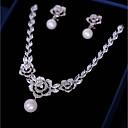 ieftine Inele la Modă-Pentru femei Zirconiu Cubic Set bijuterii - Floare Modă Include Cercei Picătură Coliere cu Pandativ Alb Pentru Nuntă Serată / Σκουλαρίκια