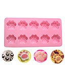 billige Bakeredskap-1pc 10 hulls katthund klør silikon kake mold diy sjokolade dekorere bakeware verktøy 3d såpe cupcake matlaging molds