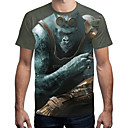 abordables Bañadores de Hombre-Hombre Exagerado / Chic de Calle Estampado Camiseta Bloques / Animal