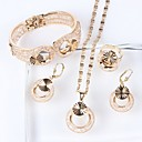 cheap Jewelry Sets-Women's Jewelry Set - Gold Plated Starfish, Mermaid Ethnic, Fashion, Oversized Include Bracelet Bangles Hoop Earrings Ring Gold For Wedding Evening Party / Bridal Jewelry Sets