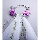preiswerte Hochzeitsschleier-Zweischichtig Simple Style / Böhmen Hochzeitsschleier Fingerspitzenlange Schleier / Kopfbedeckung mit Blütenblätter / Randverzierung 31,5 in (80cm) Tüll / Klassisch