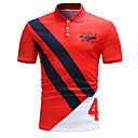 cheap Wooden Puzzles-Men's Basic Polo - Color Block Shirt Collar Red XL / Sleeveless