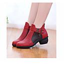 זול Dance Boots-בגדי ריקוד נשים מגפי ריקוד PU נעלי ספורט עקב נמוך נעלי ריקוד שחור / בז' / אדום / הצגה / אימון