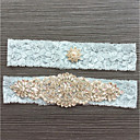 cheap Wedding Garters-Lace Classic Jewelry / Vintage Style Wedding Garter With Rhinestone Garters Wedding / Party & Evening
