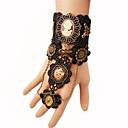 ieftine Accesorii Lolita-Ring Bracelets Floral Vintage Gotic Negru Vintage Dantelă Brățară / Brățară rigidă Aliaj Metalic Dantelă Costume de Halloween