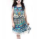 זול סטים של ביגוד לבנות-שמלה ללא שרוולים גיאומטרי בנות ילדים