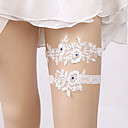 cheap Wedding Wraps-Lace Classic Jewelry / Vintage Style Wedding Garter With Rhinestone / Gore Garters Wedding / Party & Evening