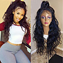 cheap Synthetic Lace Wigs-Synthetic Lace Front Wig Curly Burgundy Layered Haircut 150% Density Synthetic Hair with Baby Hair / Heat Resistant / Natural Hairline Black / Burgundy Wig Women's Long Lace Front Black / Brown / Yes
