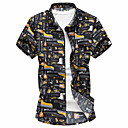 cheap Men's Accessories-Men's Plus Size Shirt - Floral Classic Collar / Please choose one size larger according to your normal size. / Short Sleeve