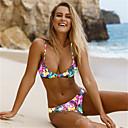 hesapli Kadın Topukluları-Kadın's Bikiniler - Desen, Çiçekli Yarım Tanga