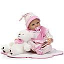 ieftine Păpuși-NPKCOLLECTION Păpuși Renăscute Bebe Fetiță 22 inch Silicon Lui Kid Unisex / Fete Jucarii Cadou
