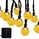 abordables Tiras de Luces LED-6m Cuerdas de Luces 30 LED 1 conjunto de soporte de montaje Blanco Cálido / RGB / Blanco Solar / Impermeable / Decorativa Funciona con Energía Solar 1 juego