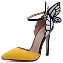 baratos Sapatos de Salto-Mulheres Sapatos Couro Envernizado Verão / Outono Conforto / Plataforma Básica Saltos Salto Agulha Roxo / Amarelo / Festas & Noite