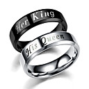 cheap Earrings-Couple Rings / Band Ring - Simple 6 / 7 / 8 Black / Silver For Gift / Daily / Evening Party