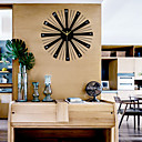 cheap Rustic Wall Clocks-Modern / Contemporary Wood Round Indoor / Outdoor,AA Batteries Powered / AA Wall Clock