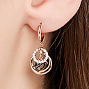 cheap Earrings-Women's Layered Hoop Earrings - 18K Gold Plated, S925 Sterling Silver Dainty Rose Gold For Going out Festival