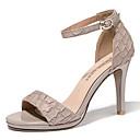 ieftine Flip-Flops de Damă-Pentru femei Pantofi Piele Originală Vară Gladiator / Balerini Basic Sandale Toc Stilat Negru / Migdală / Party & Seară