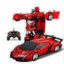 preiswerte RC Cars-RC Auto 2In1 RC Car Sports Car Transformation Robots Models 4 Kanäle On-Road / Treibwagen 1:18 KM / H