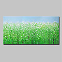 cheap Rolled Canvas Paintings-Oil Painting Hand Painted - Landscape / Floral / Botanical Modern Canvas
