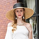 cheap Party Headpieces-Natural Fiber Hats with Ribbons 1pc Casual / Daily Wear Headpiece