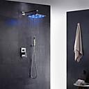 halpa Kylpyhuoneen lavuaarihanat-Suihkuhana - Nykyaikainen Kromi Seinäasennus Keraaminen venttiili