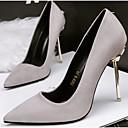 זול נעלי עקב לנשים-בגדי ריקוד נשים נעליים PU אביב בלרינה בייסיק עקבים עקב סטילטו ירוק / ורוד / חאקי