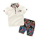 זול אוברולים טריים לתינוקות-יוניסקס בסיסי כותנה מכנסיים - פרחוני לבן 120 / פעוטות
