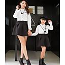ieftine Set Îmbrăcăminte De Familie-Adulți / Copii Fete Bloc Culoare Manșon Lung Bluză