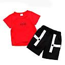 ieftine Set Îmbrăcăminte Băieți Bebeluși-Bebelus Unisex De Bază Bloc Culoare Manșon scurt Set Îmbrăcăminte / Copil
