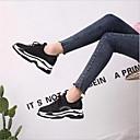 זול סניקרס לנשים-בגדי ריקוד נשים נעליים עור אביב נוחות נעלי ספורט שטוח שחור