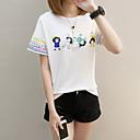 abordables Fundas de Almohada-Mujer Vintage Borla Camiseta Un Color Blanco y Negro