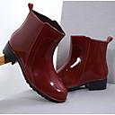 cheap Women's Boots-Women's Shoes PVC(Polyvinyl chloride) Spring & Summer Rain Boots Boots Low Heel Black / Red / Blue