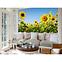 cheap Smartwatch Accessories-Wallpaper / Mural Canvas Wall Covering - Adhesive required Botanical / Pattern / 3D