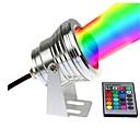 billige Flomlys-1pc 10 W Undervannslys Vanntett / Fjernstyrt / Mulighet for demping RGB + Hvit 12 V Utendørsbelysning / Svømmebasseng / Courtyard 1 LED perler
